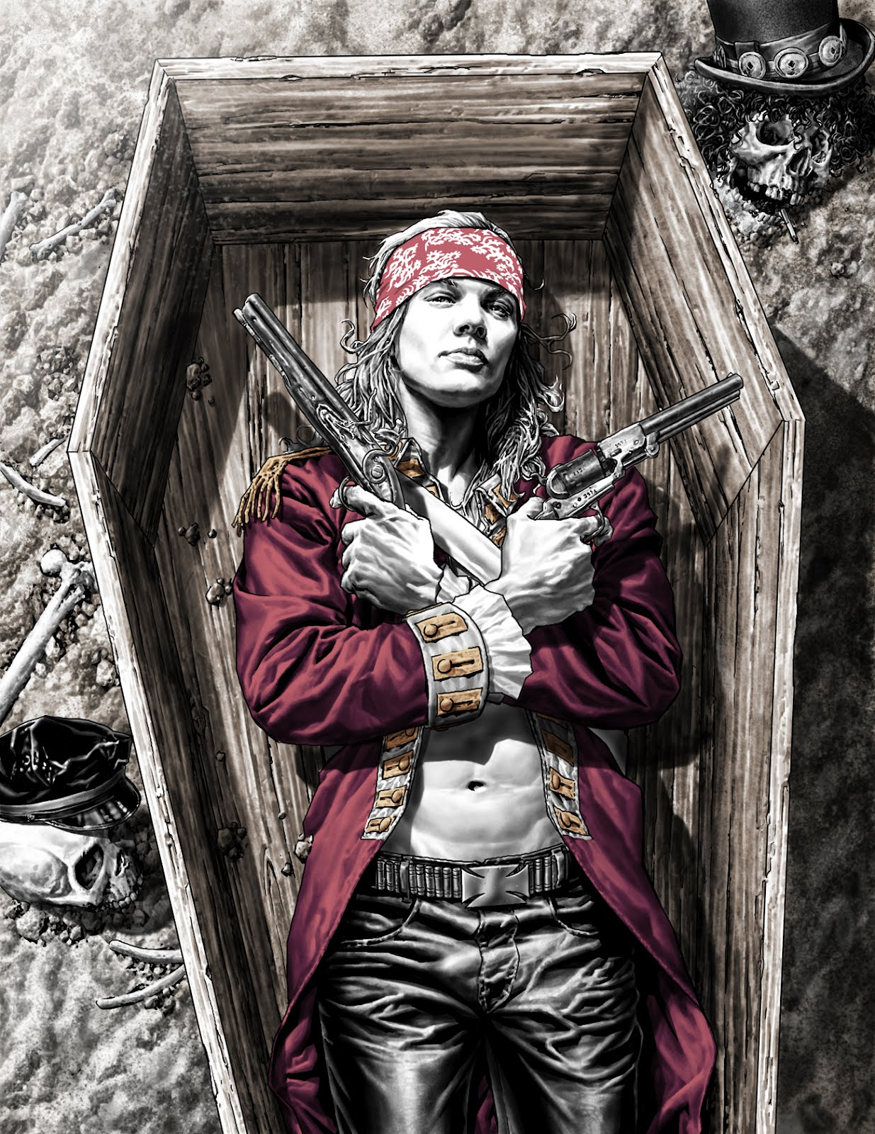Lee Bermejo Axl Rose Guns N' Roses