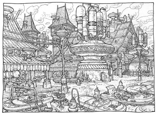 Ateliers Port du blanc – Copyright Floch/Guth, éditions Soleil