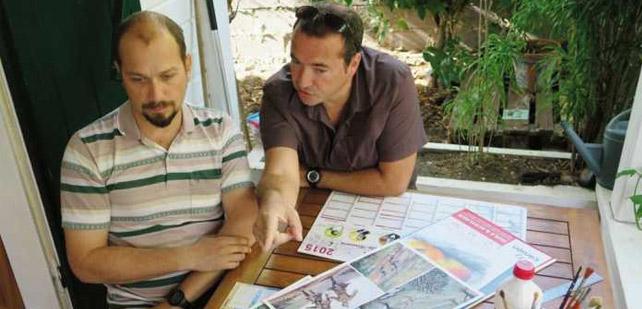 Olivier Giraud à gauche, Philippe Pelaez à droite