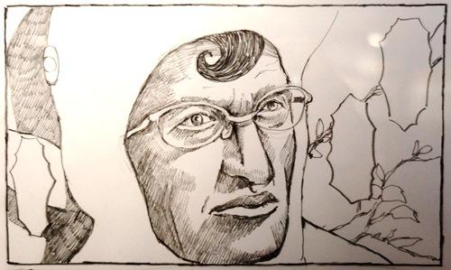 Portrait de Moebius par Taiyô Matsumoto dans Number 5