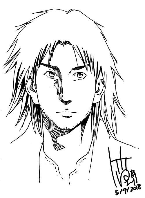 Dessin original Tetsuya Tsutsui