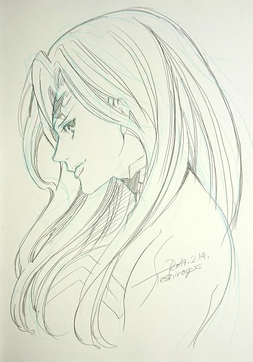 Shiori Teshirogi - Batman - dessin