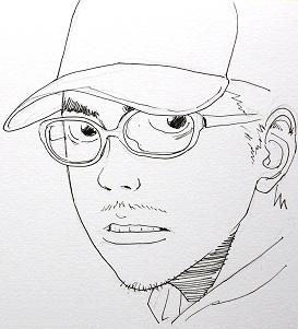 Un des 12 dessins réalisés par l'auteur pour ses fans : le personnage de Hideo
