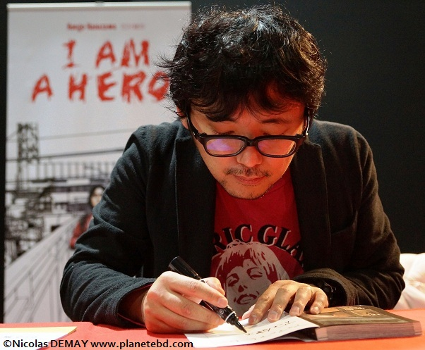 Kengo Hanazawa en dédicace au salon Made In Asia de Bruxelles