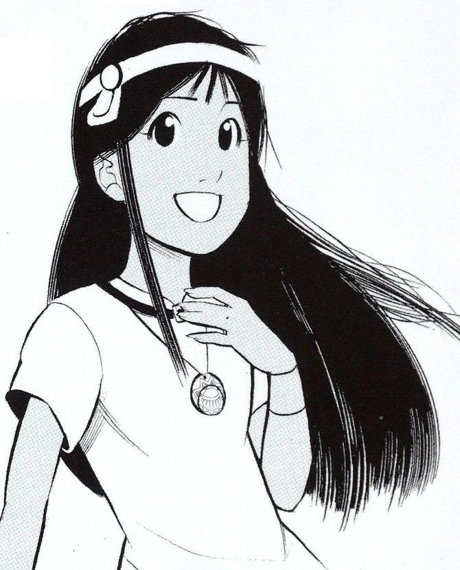 Zia, dessinée par Thomas Bouveret dans le manga des cités d'or