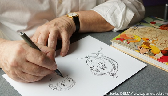 Bernard Deyriès en plein travail