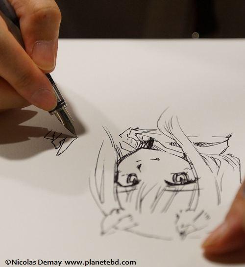 le mangaka en plein travail