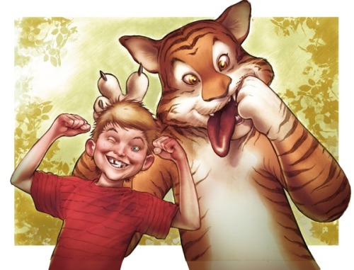 Calvin and Hobbes by eddy barrows