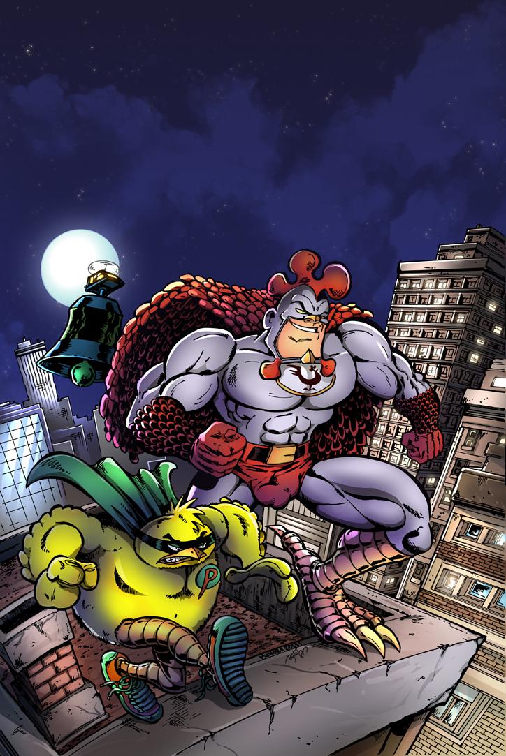 Coq-Man & Poussin cyrille munaro