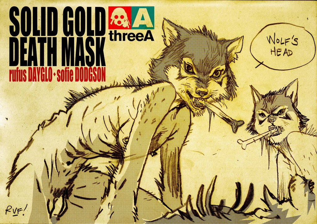 rufus dayglo solid gold death mask