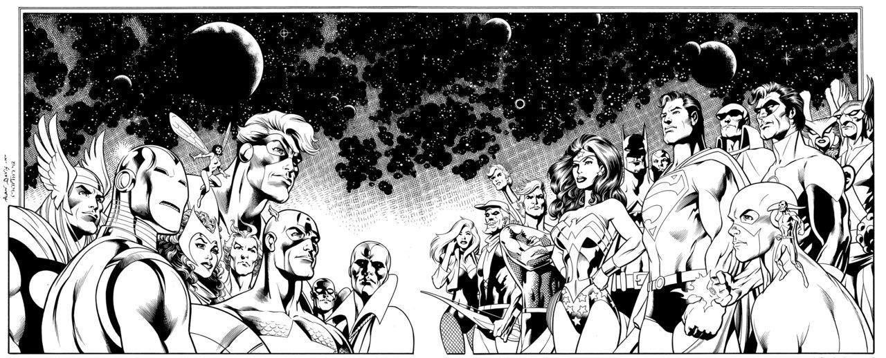 Alan Davis Avengers JLA