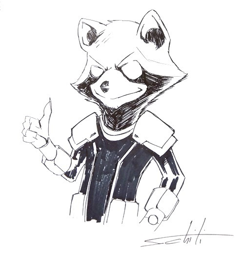 Valerio Schiti Rocket Raccoon