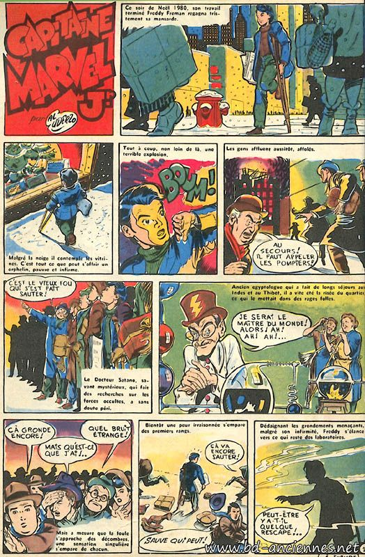 Albert Uderzo Captain marvel Jr Xavier Fournier