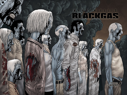 Jacen Burrows Warren Ellis Avatar Press Black Gas