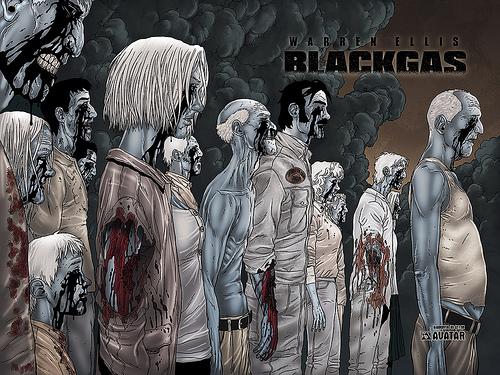 Jacen Burrows Warren Ellis Avatar Press Black Gas
