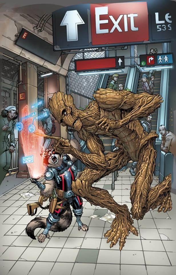 Nick Bradshaw Guardians of the galaxy