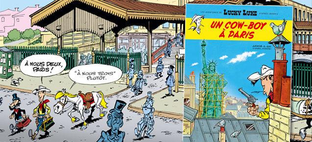 Lucky Luke à Paris