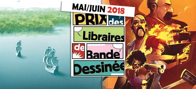Prix des libraires mai et juin 2018