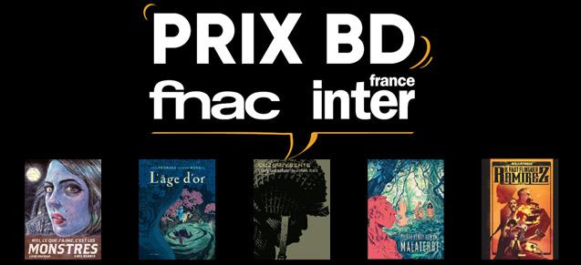 Les finalistes du 1er prix BD Fnac France Inter