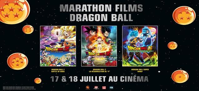 Un marathon Dragon Ball au cinéma !