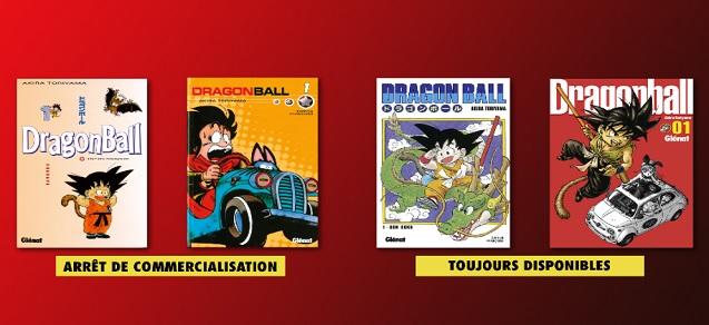 Dragon Ball : Arrêt de commercialisation des éditions sens français