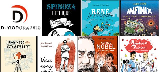 Création du label de bandes dessinées Dunod Graphic