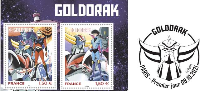 Des timbres Goldorak !