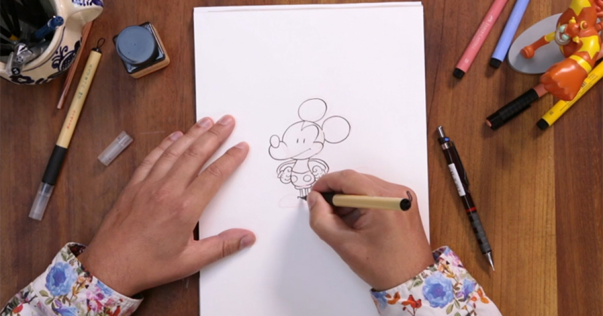 Tébo t'apprend à dessiner Mickey