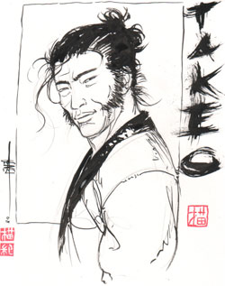 Dédicace Takeo - Copyright Fred Genet 2008